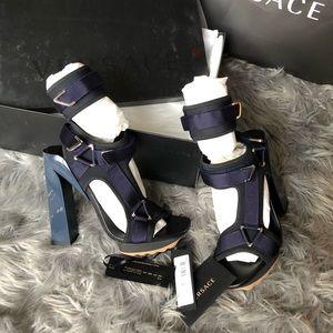 New Authentic Versace Scuba Strap Sandals Size 41